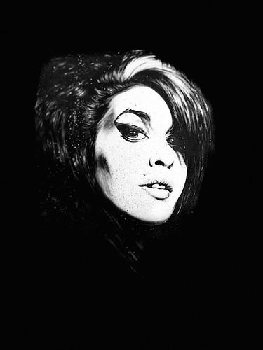 Amy Winehouse - painted portrait - IMG_2039
