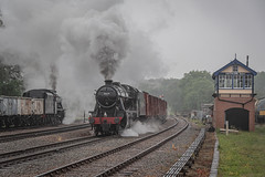 Passing 8F's (Calum Hepplewhite) Tags: 48305 48624 swithland swithlandsidings gcr greatcentralrailway lms br britishrailways 8f nikond500 omot tle timelineevents