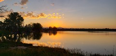 June 27, 2019 - Sunset reflections at McKay Lake. (David Canfield)