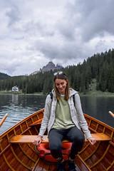 on the boat (isabelmarconato) Tags: memories lagodimisurina misurina boat trecime lake landscape