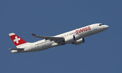 Swiss (Treflyn) Tags: airbus a220 220 a220300 hbjcm swiss international air lines formerly bombardier cseries cs300 bank over feltham departure lhr gva london heathrow bound geneva