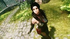Felicia Ferwind (XMymy007X) Tags: skyrim enb tesv lady sexy black latex