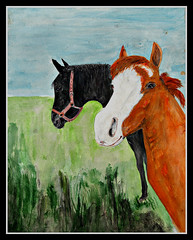 Neighbours (patrick.verstappen) Tags: art watercolor pen inkt horse texture photo paper fabriano flickr facebook yahoo o censured room collage funny naked belgium gingelom google picassa pinterest pat dog animal magazine shy nikon d7100 sigma winter lovely σκύλοσ αστείο κρεβάτι desnudo divertido nu 裸の 女性 犬 女子 狗 pixelated sign painting grass barbie xxx waterbrush acryl cheval june summer neighbours pherd picofday photoofday cute beauty models london instagram topmodels