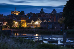 Arundel at Night - Sussex (E_W_Photo) Tags: arundel night riverarun blackfriarsruin boats arundelcathedral bluehour sussex england uk canon 80d sigma 1750mm leefilters