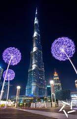 Burj Khalifa, Dubai (Stuart-Saunders) Tags: burjkhalifa dubai tall building flowers cityscape travel use uae skyscraper city love life
