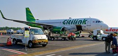 Citilink - Edited (406highlander) Tags: pkgqp citilink garudaindonesia aircraft airport airplane aeroplane plane jet twinjet narrowbody airliner aviation flight indonesia yogyakarta adisutjiptointernationalairport adisutjiptoairport wahh jog airbus a320 airbusa320 airbusa320214 turbofan lgv30 lgh930 supergreen vehicle asia