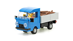 Small Blue Truck UAZ (de-marco) Tags: lego city town classic 4wlc 4wide truck pickup vehicle