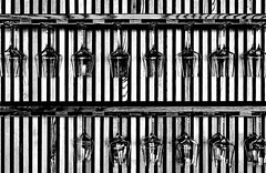 five guests (christikren) Tags: abstract bw christikren design geometry glass image interior lines monochrome noiretblanc österreich photo wineglass symmetry wooden pattern winetasting friends panasonic againandagain