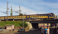 Latvia class ER2 (onewayticket) Tags: electric railway trains transport rvr emu bridge riga latvia