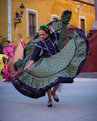 Mexican Dancer (jbrad1134) Tags: spinning dress recital travel guanajuato mexicana mexico colors color beautiful girl woman dancing dancer fuji fujifilm x100f