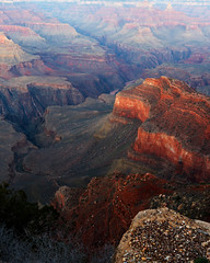 Our knowledge is a little island in a great ocean of non-knowledge… (ferpectshotz) Tags: grandcanyon nationalpark southrim sunset rocks redrockcountry canyon river coloradoriver