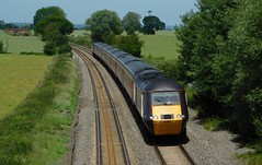 Under sunny Staffordshire skies (The Walsall Spotter) Tags: class43 hst highspeedtrain intercity125 crosscountry trains powercar 43366 elford tamworth staffordshire sunshine dundee plymouth britishrailways networkrail