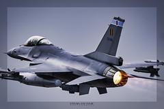 General Dynamics F16 Falcon FA-104 Belgian Air Force. NTM Mont de Marsans (Fr) Mayo 17 de 2019. (EFRAIN A. JACOME Q.) Tags: verde f16 belgium nato tiger air force aircraft efrain jacome combat sky pilot