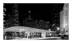 Apple Store Chicago (Jean-Louis DUMAS) Tags: architecture architect architecte architectural architecturale bâtiment building reflecting chicago sony art batiment twop noretblanc tower award monochrome noir blanc black white bn bnw nb ngc noiretblanc bw