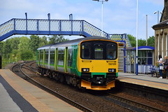 Still in its West Midlands livery 150109 arrives at Mexborough with the 2C65 Sheffield to Hull, 27th June 2019. (Dave Wragg) Tags: 150109 class150 sprinter 2c65 mexborough dmu railcar railway