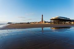A June Evening on Blackpool Beach (nickcoates74) Tags: 1650mm a6300 blackpool blackpooltower centralpier fylde ilce6300sel1650 lancashire sony beach coast evening pier seaside shore tower blackpoolgoldenhourmagicho uk