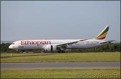 ET-AUQ Boeing 787-9 Ethiopian Airlines (elevationair ✈) Tags: dub eidw dublin airport dublinairport avgeek aviation airplane plane sun sunny summer 100 100th 100thaircraftdelviered ethiopian ethiopianairlines landing arrival dreamliner 787 789 boeing7879 boeing etauq