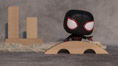 Black suit Spiderman (DayBreak.Images) Tags: tabletop toy funkopop black spiderman wooden blocks canoneosm mirrorless meyeroptic 50mm trioplan manfrottolumimuse lightroom