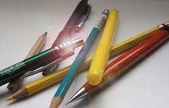 Take your pick (LeftCoastKenny) Tags: utata ironphotographer yellow orange green turquoise black pencils pens lensflare utata:project=ip285 utata:description=hide