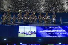 Plenário do Senado (Senado Federal) Tags: plenário sessãoespecial dianacionaldaaviaçãodesegurançapúblicadobrasil comemoração paineleletrônico hinonacional banda militar brasília df brasil