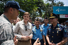 """An Airman discusses medical services during Pacific Angel 19-1 (#PACOM) Tags: bangladesh lalmonirhat usindopacificcommand """"usindopacom pacificangel191"""
