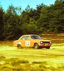 Sort-out stages, Salisbury Plain, September 1978 (beareye2010) Tags: rally rallyinginthe1970s rallycar motorrallying sortoutstages 1978 1970s wiltshire wilts salisburyplain fordescort fordescortmk1 ford rs2000 dickplatts clubnatwest ppa761r