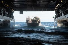 "Landing Craft, Utility (LCU) 1666 enters the well deck of USS Green Bay (LPD 20) (#PACOM) Tags: ussgreenbay lpd20 usnavy usn sailor greenbaypackers amphibioustransportdockship sanantonioclass usmc usmarines marines 31stmeu 31stmarineexpeditionaryunit waspamphibiousreadygroup wasparg phibron11 amphibioussquadron11 pacificocean usindopacificcommand ""usindopacom"