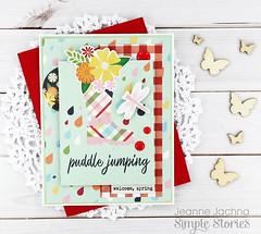 Puddle Jumping (akeptlife) Tags: simplestories springtimecollection spring card cardmaking papercrafting patternpaper aprilshowers boots puddlejumpers