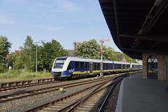 Alstom Lint 41 Erixx 622 710 + 622 703 bij binnenkomst in station Goslar 25-06-2019 (marcelwijers) Tags: alstom lint 41 erixx 622 710 703 bij binnenkomst station goslar 25062019 95 80 2102 derixx 7036 bahnhof coradia triebzug triebzuge eisenbahn bahn railway railways tren treno germany deutschland duitsland allemagne diesel trein train vt