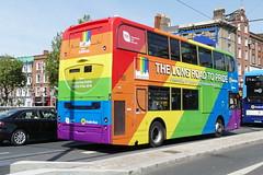 The Long Road To Pride... (Csalem's Lot) Tags: oconnellbridge aoa pride dublinpride dublin dublinbus enviro400 ev98 7 ev volvo