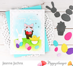 Easter Scene (akeptlife) Tags: poppystamps card cardmaking craftdie papercrafting whittlerabbit whittleeggs whittlebasket chickandegg doodlehappyeaster doublestitchscalloprectangles