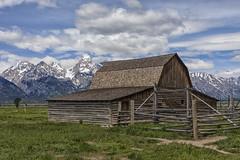 John Moulton Barn - Grand Teton National Park 7I4A3991 (raddox) Tags: grandtetonnationalpark grandteton nationalpark tetonmountains mountain johnmoulton johnmoultonbarn mormonrow barn clouds mormon