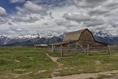 John Moulton Barn - Grand Teton National Park 7I4A3934 (raddox) Tags: grandtetonnationalpark grandteton nationalpark tetonmountains mountain johnmoulton johnmoultonbarn mormonrow barn clouds mormon