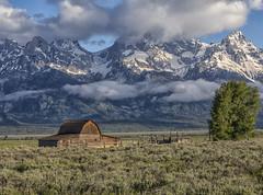 John Moulton Barn - Grand Teton National Park 7I4A4116 (raddox) Tags: grandtetonnationalpark grandteton nationalpark tetonmountains mountain johnmoulton johnmoultonbarn mormonrow barn clouds mormon