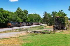 CSX N306-24 @ Kingston, GA (Steve Hardin) Tags: csx wa westernatlantic railroad railway railfan train coal hopper locomotive engine ac4400cw cw44ac sd70mac plantbowen stilesboro kingston georgia furnace