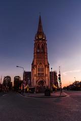 St. Peters in Dublin (Kjeldvdh) Tags: dublin ireland eire europe europa church cathedral catholic road sunset gloom nacht sonnenuntergang zonsondergang zon urban city stad