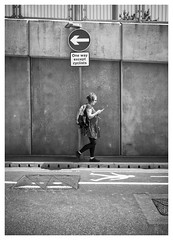 Can't Read the Signs (Dave Button) Tags: nottingham fuji fujifilm street signs acros bw blackwhite mono monochrome urban streetphoto streetphotography border tonalrange silverefexpro