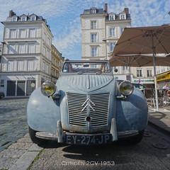 2 CV Citroën 1953 (eric borowski) Tags: 2cv citroën andrécitroën 1953 modèle1953 2cv1953 tractionavant pontaudemer normandie eure départementdeleure borowskieric ericborowski
