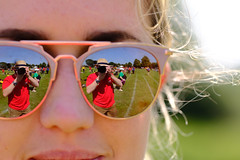 Self portrait in Celine's specs (timnutt) Tags: track mirror reflection leicestershire sportsday fujifilm velvia athletics teachers people xt2 fuji sport selfie school glasses field
