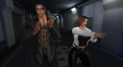 On a mission (antoniohunter55) Tags: maitreya signature gianni secondlife sl bento catwa guns mission nomatch hair backdrop