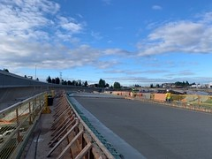Morning light on new concrete in Tacoma (WSDOT) Tags: cm bridgedeckpour tacoma construction hov stateroute16