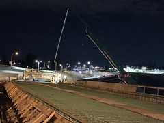 New ramp in Tacoma gets poured (WSDOT) Tags: cm tacoma bridgeconstruction nightconstruction sr 16
