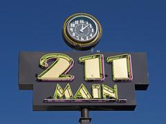 OH Celina - 211 Main (scottamus) Tags: celina ohio mercercounty sign clock 211main neon