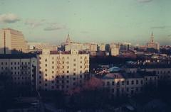 View on Sukharevskaya Square and Sretenka Street, 1988 Moscow, (Group f/64) Tags: moscow ussr sretenkast 1988 zenit12xp helios44258mmf2lens epsonv700 film orwo slide