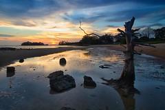 IMG_8423 ~ before dark (alongbc) Tags: sunset sundown beach cloud sea sky seascape shoreline coastline telukgong melaka malaysia travel place trip canon eos700d canoneos700d canonlens 10mm18mm wideangle happyplanet asiafavorites