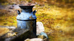Got Milk ? - HSoS 😊 (Bob's Digital Eye 2) Tags: gotmilk abstract bobsdigitaleye bobsdigitaleye2 canon canonefs55250mmf456isstm flicker flickr metal milkchurn outdoor rust rusty rustybeauty smileonsaturday stone t3i textures wood
