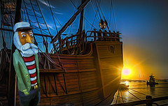 Sailor's Sunrise (Rusty Russ) Tags: newburyport santa maria tall ship sunrise sailor yellow colorful day digital flickr country bright happy colour scenic america world sunset sky red nature blue white tree green art light sun cloud park landscape summer old new photoshop google bing yahoo stumbleupon getty national geographic creative composite manipulation hue pinterest blog twitter comons wiki pixel artistic topaz filter on1 sunshine image reddit tinder russ seidel facebook timber unique unusual fascinating