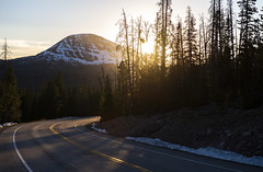 (JasonCameron) Tags: utah high uintah mountains sunset sun burst flash blast light road drive tour mirror lake snow june mountain peaks sundown