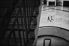 Running Girls (sabirin noor) Tags: minimalstreet snapseed monochrome malaysiastreet fujifilm x100t