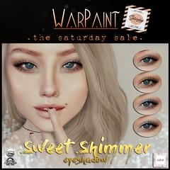 WarPaint @ TheSaturdaySale (Mafalda Hienrichs) Tags: warpaint war paint applier cosmetics sweet shimmer eyeshadow shadow glitter catwa omega mainstore event discount sale saturday